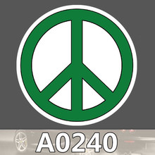 A0240 Peace symbols sticker sign logo against war waterproof suitcase laptop guitar luggage skateboard bicycle toy Kids stickers