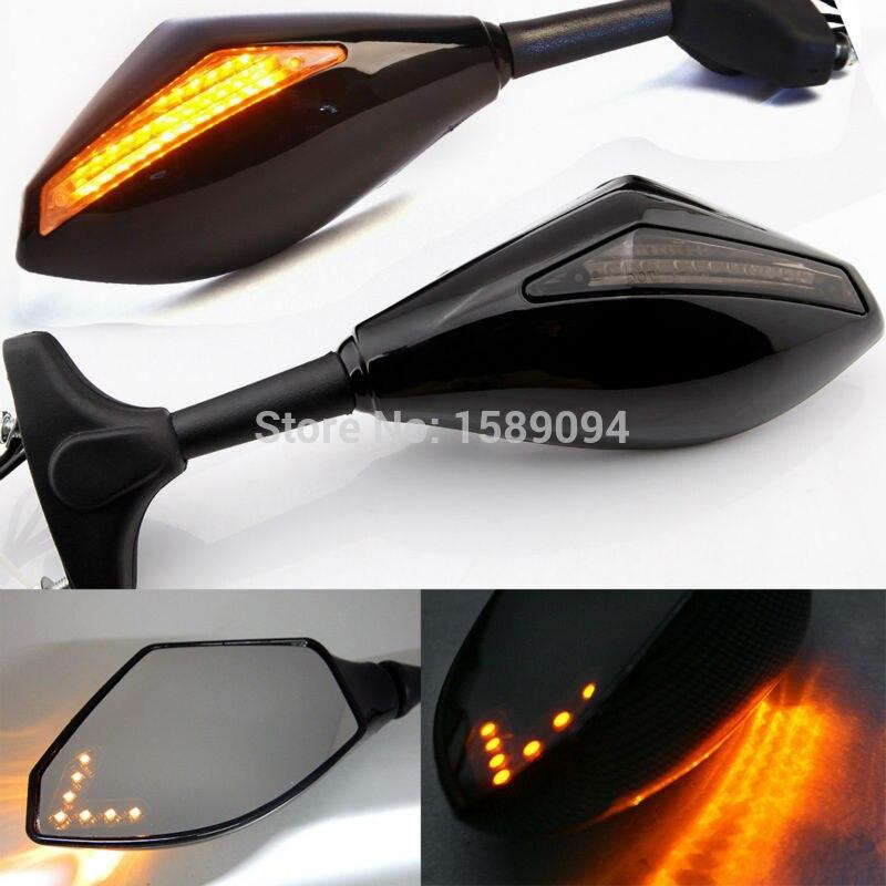 Nouvelle LED Clignotants Indicateurs Moto Rétroviseur Côté Miroirs Retroviseur Clignotants Moto Pour Honda CBR 250 600 900 1000 RR