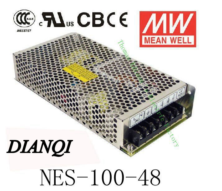 Original MEAN WELL power suply unit ac to dc power supply NES-100-48 100W 48V 2.3A MEANWELL meanwell 24v 75w ul certificated nes series switching power supply 85 264v ac to 24v dc