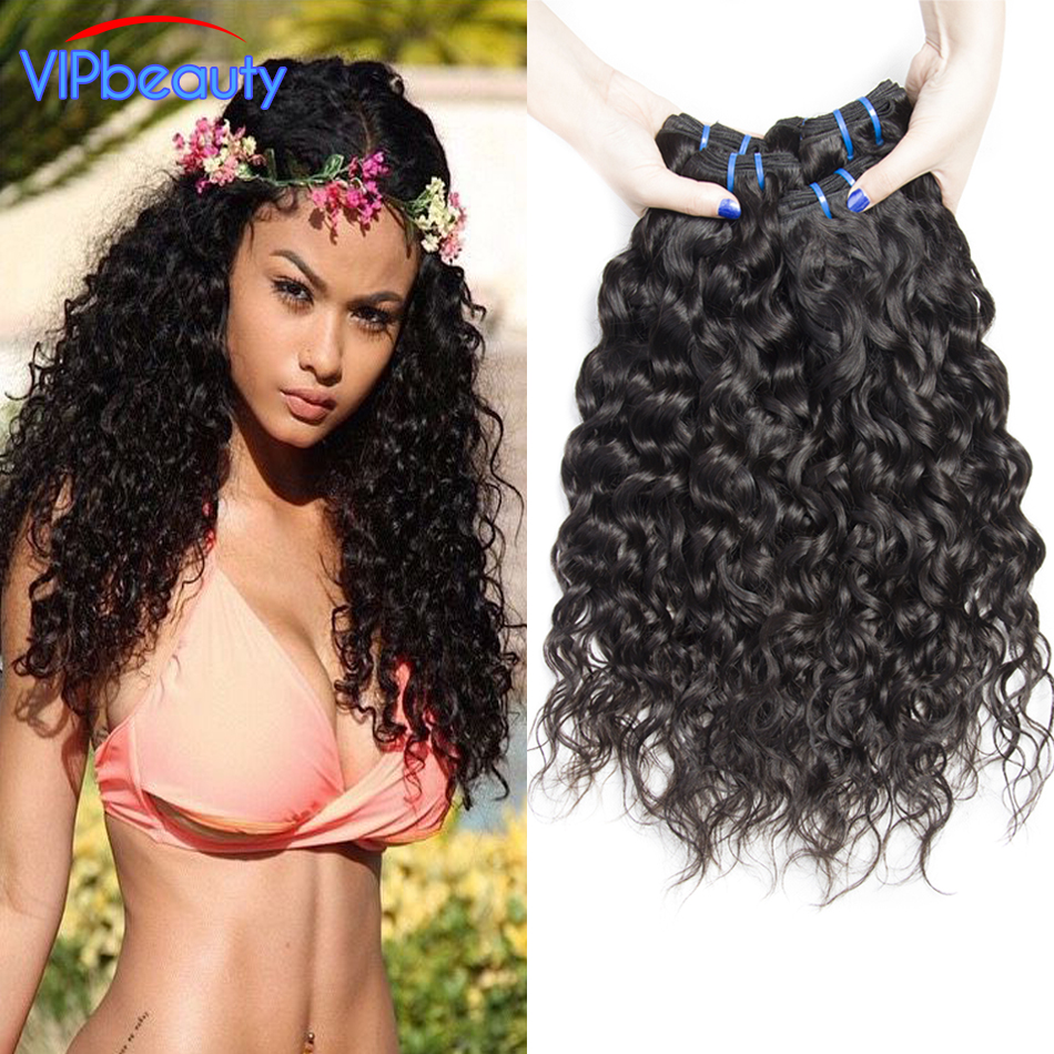 Indian Water Wave 4 Bundles Unptocessed Wet And Wavy Raw Indian