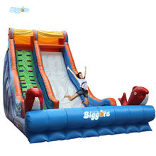 Inflatable Biggors Giant 12*5*7 m Inflatable Dolphin Slide With Air Motor Free Shipping By Sea
