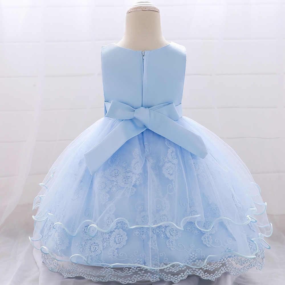 חדש תינוק גדול קשת גזה מסמר חרוז נסיכת שמלת ילדה אלגנטית פרח יום הולדת מסיבת ילדה שמלת ילדי ילדה של בגדי חג המולד