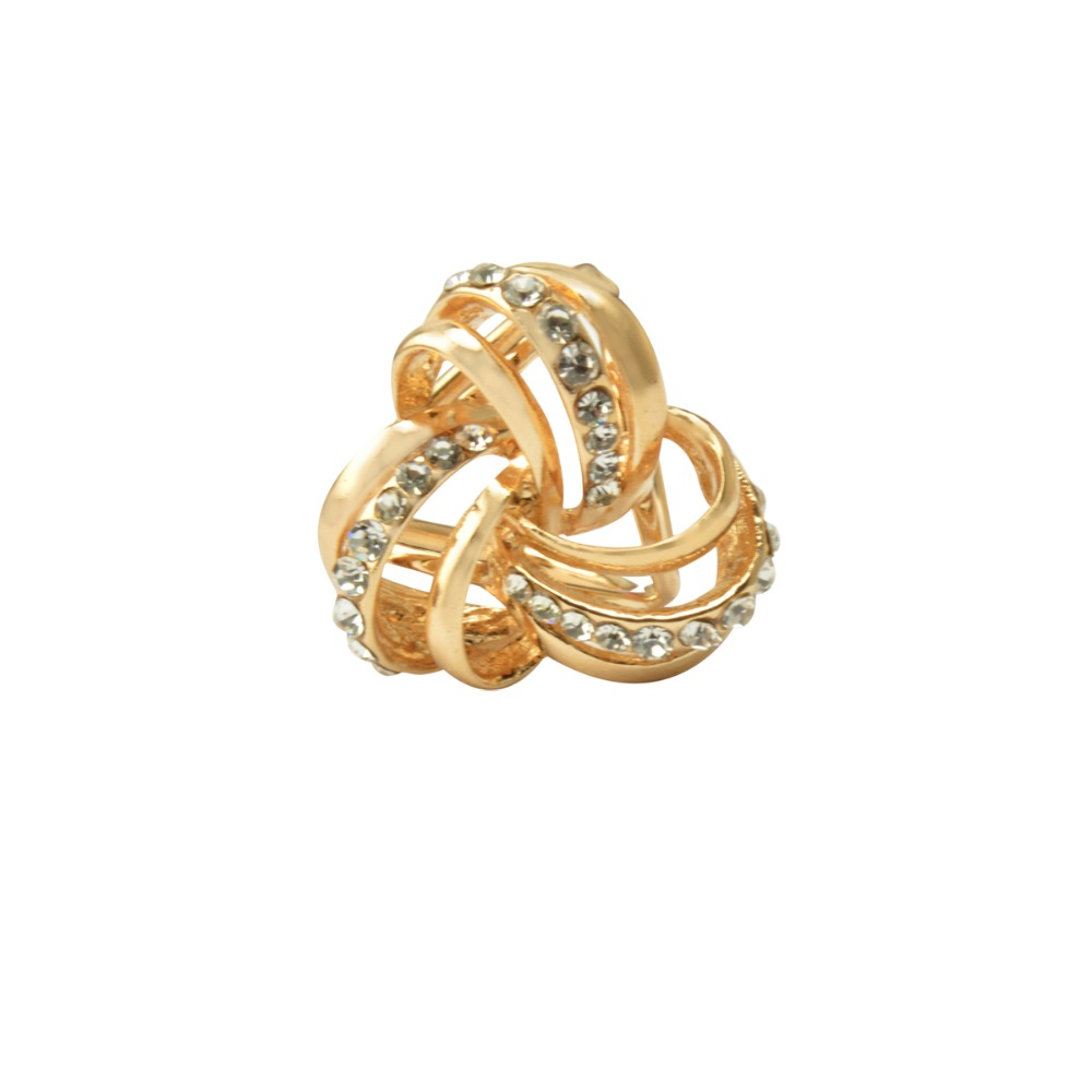 MZC Bijuterias Retro Brooch Dual Scarf Clip For Women Rhinestone Heart Gold Broaches Christmas Pins Scarf Accessories Jewelry