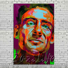Palette knife portrait Face Oil painting Character figure canvas Hand painted Francoise Nielly wall Art picture 12