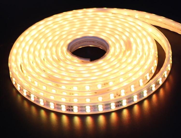 a luz de tira o brilho alto