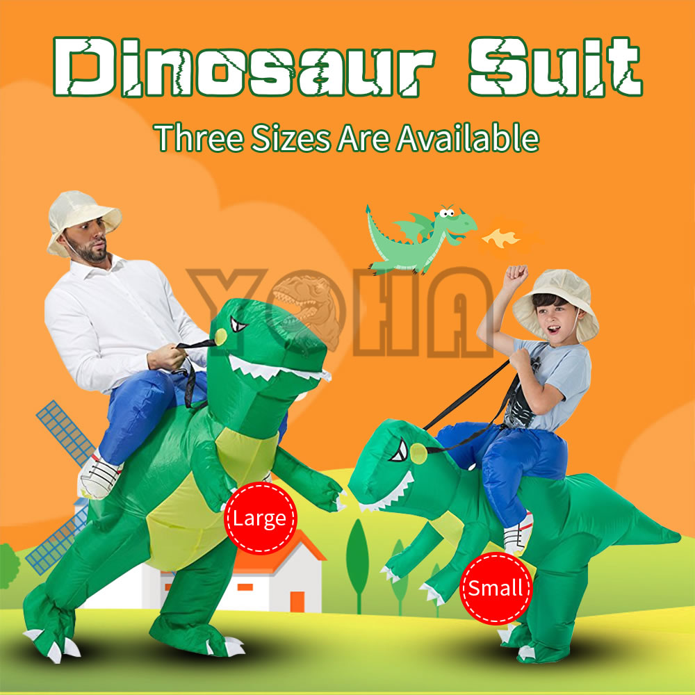 YOHA Inflatable Dinosaur Costume Kids Adult Blow Up T-Rex Unicorn Cowboy Sumo Wrestler Outfit Cosplay Purim Halloween Costume