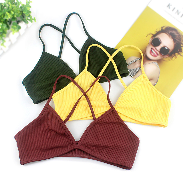 Sexy Backless Women Bra Tops 2019 Fashion Solid Wireless Bralette V Neck Seamless Lingerie Underwear Soft Comfortable Intimates