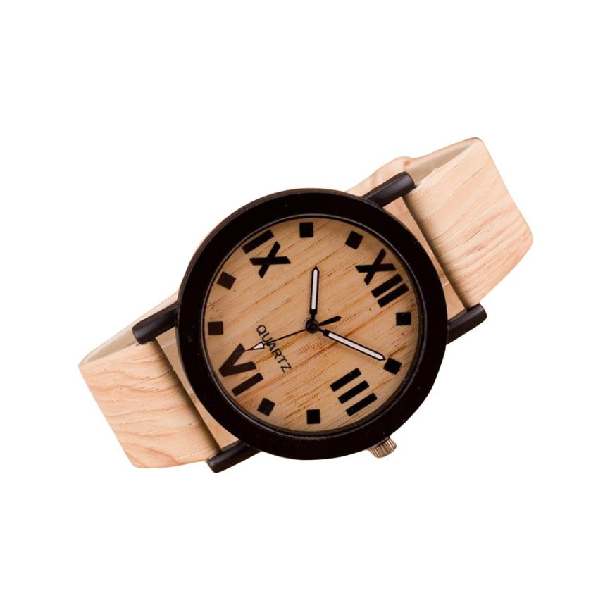 Timistar # 3001 Roman Numerals Wood Leather Band Analog Quartz Vogue Wrist Watches fashion casual watch men women unisex neutral clock roman numerals wood leather band analog hour quartz wrist watches 7550114 page 8