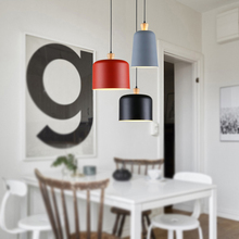 JAXLONG Macaron Pendant Lights Simple Modern Restaurant Handing light Creative Personality Cafe Milk Tea Shop Office Nordic Lamp