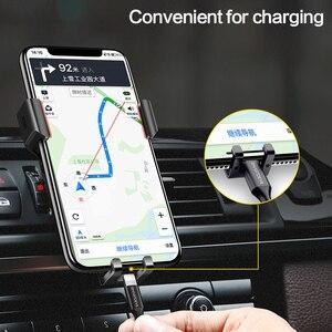 Image 4 - SmartDevil حامل هاتف نقال للسيارة للهاتف الجاذبية رد فعل الهواء تنفيس جبل حامل هاتف الخليوي حامل هاتف الوقوف ل سامسونج Xiaomi