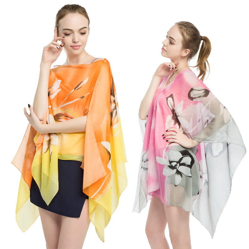 New 2019 summer Sunscreen   Scarves   for women Sun Protection Shawl Poncho driving   Scarf     wrap   Beach Shawl Bikini Cover