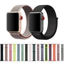 купить Nylon Sport Loop Strap For Apple Watch band 42mm/38mm 44mm/40mm iWatch 4/3/2/1 Bracelet Wrist Watchband Accessories по цене 217.13 рублей