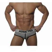2016 Hot Men Cotton Underwear/Briefs Sexy Shorts Gay Sleepwear Man Stripe Underpants Huge Penis Pouch Penis enlargement ADDICTED