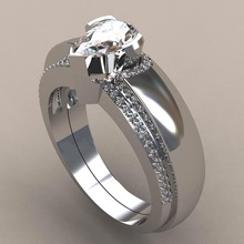 Special Design Fashion Women Real 925 Sterling Silver Water Drop Cubic Zircon Inlaid Shine Luxury Jewelry Wedding Engagement