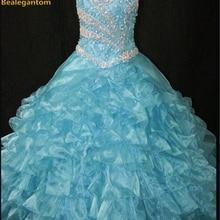 Новинка года; Лидер продаж; нарядное бальное платье для девочек; Бальные платья с бретельками и бусинами; Розовые Платья с цветочным узором для девочек Vestido daminha Casamento QA205