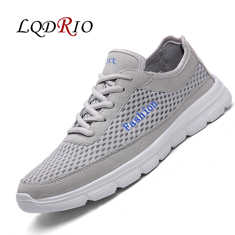 LQDRIO 2017 Hot Sale Spring Summer Mesh Men Casual Shoes Fashion Trainers Zapatillas Deportivas Big Plus Size 45 46 47 48 2017 new summer breathable men casual shoes autumn fashion men trainers shoes men s lace up zapatillas deportivas 36 45