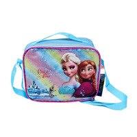 Elsa Girls Lunch Bag Cartoon Sofia Bag For Girls School 2016 New Arrival Snow Queen Fashion
