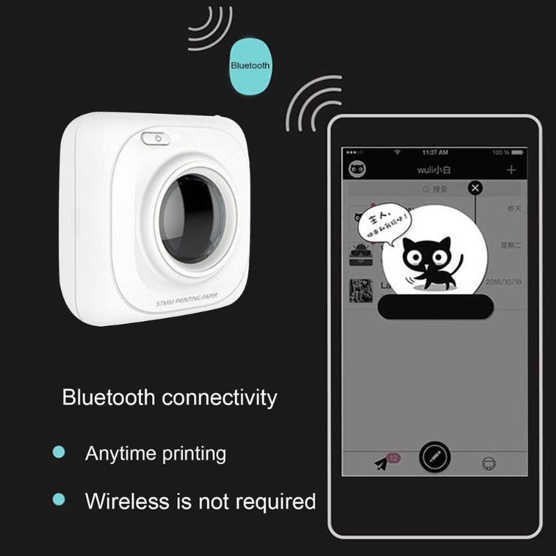 Imprimante Portable Bluetooth 4.0 POS imprimante Photo thermique téléphone connexion sans fil imprimante 1000 mAh Lithium-ion pâte - 5