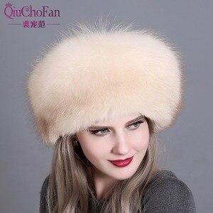 Image 3 - ผู้หญิงฤดูหนาวหมวกขนสุนัขจิ้งจอก & หมวกขนสัตว์กระต่าย 2 Pompons ทั้ง Fox Tail รัสเซียฤดูหนาวนอก warm มองโกเลียหมวก