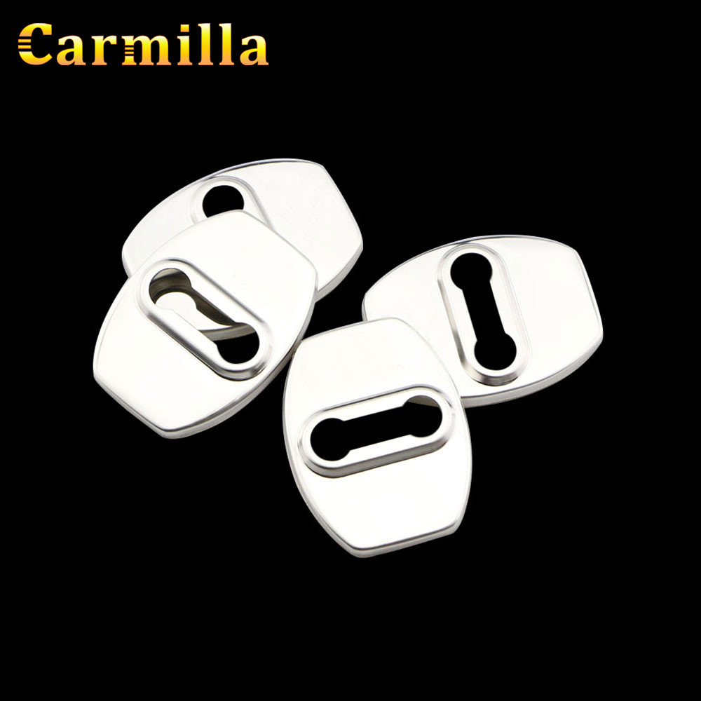 Carmilla Car Door Lock Protector Covers Stainless Steel Cover for Hyundai Tucson 2015+ for Kia Sportage QL 2016 2017 Accessories car trunk curtain cover special for kia sportage 2016 2017 2018 ql 4th generation