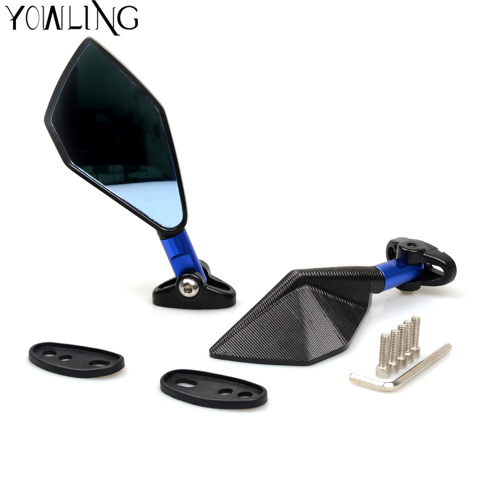 Black Universal Motorcycle Mirror motorbike Side Mirrors Rearview Mirror For yamaha Honda Suzuki bmw ducati KTM