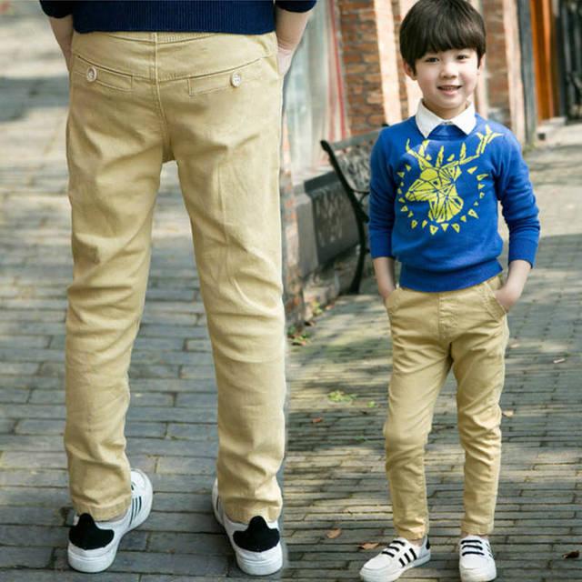 ילד ילד מכנסי קזואל סתיו וחורף ילד מכנסיים בתוספת קטיפה 2017 בגדי ילדים סתיו עיבוי ילד גדול מכנסיים