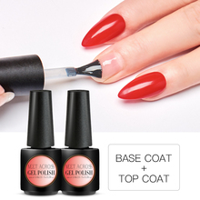 MEET ACROSS Matte Top Coat 7ml Base No Wipe Color Gel Nail Polish  UV LED Soak Off Art Varnish Lacquer
