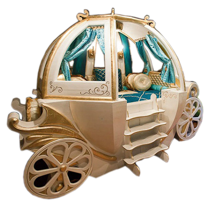Happy Baby Custom Solid Wood Boys And Girls Bed Theme Hotel Features American Carriage Bed Children's Furniture стоимость