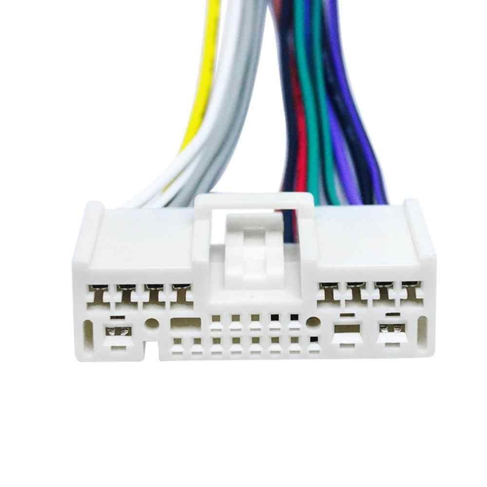Cable adaptador de Cables de alimentación de Radio de coche de Audio para Mazda 2 3 5 6 8 CX5 CX7