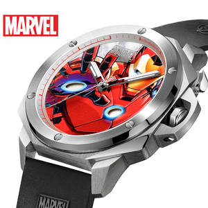 Watches Luxury Quartz Sport Casual Fashion Mens MARVEL 5bar Iron-Man Water-Resistant