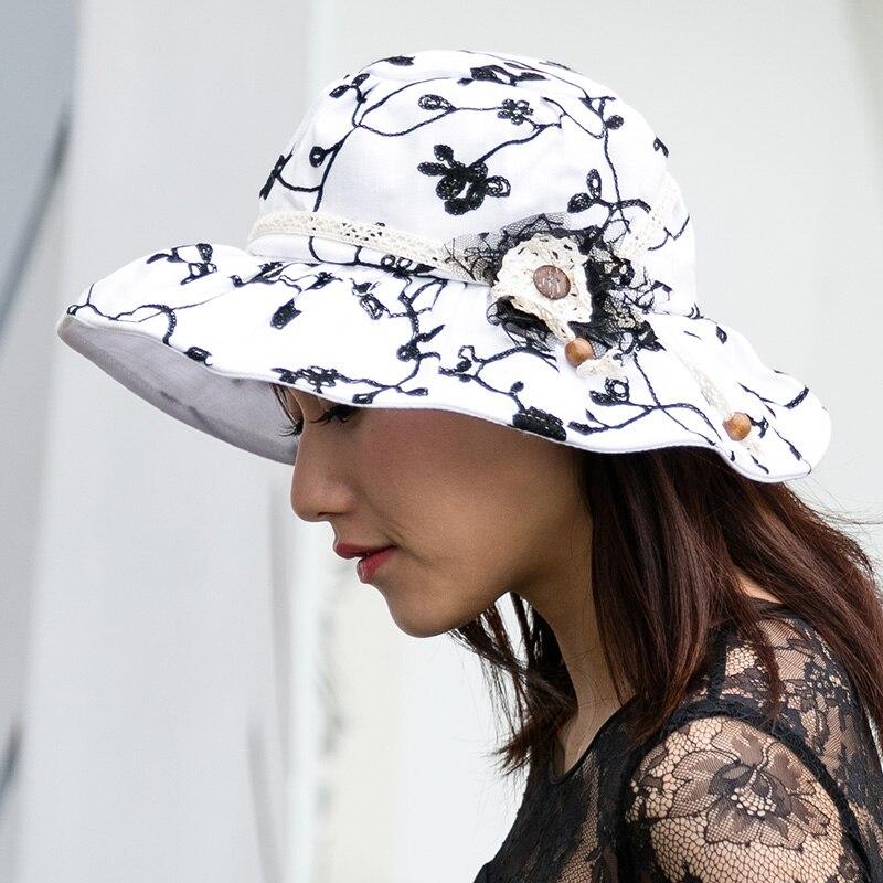 Summer Beach Hats For Women Elegant Wide Brim Hats Chapeu de praia Feminino Travel Outdoors Cap