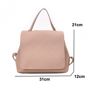 Image 5 - New Fashion Leather Backpack Female Women School Bags Back pack for Teenger Girl Shoulder Casual Sac A Dos Multifunction Bagpack