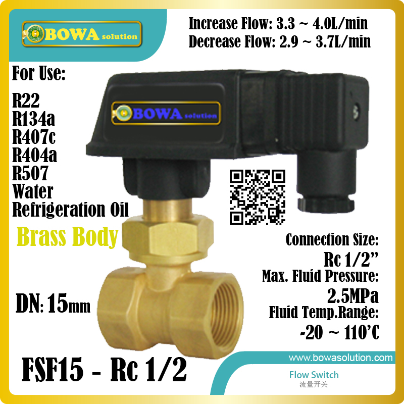 DN15 fridge flow switch with Rc1/2 connection suitable for fluorine barrel type pump system of multi-evpaorators unit fifty shades darker no bounds collection paddle двусторонний пэддл из натуральной кожи