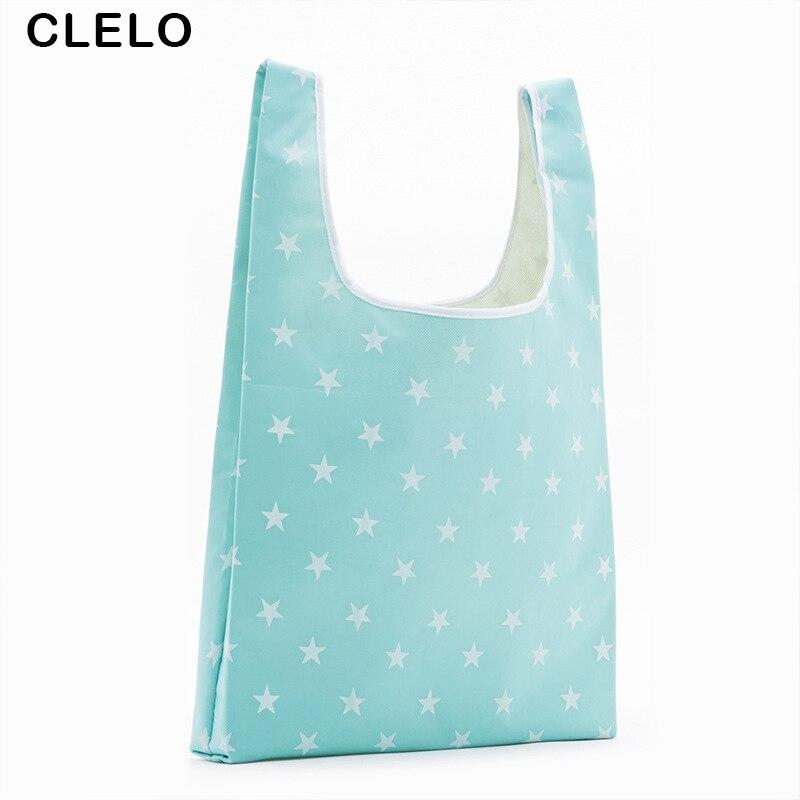 CLELO Foldable Square Reusable Shopping Bag Multifunction HandBag Travel Home Storage Ba ...