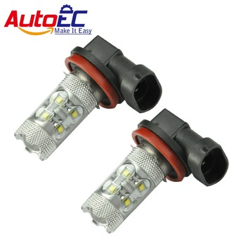 AutoEC 100 X led fog light lamp h11 50w 9005 9006 car day time running auto bulbs lights white 12v