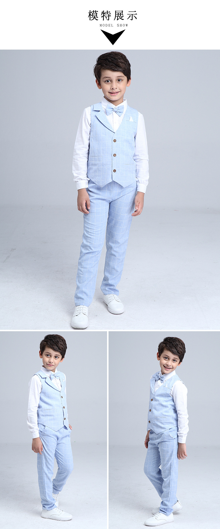 HTB11oanQXXXXXaoaXXXq6xXFXXXg - 2017 Boys Blazer Suit Kids Cotton Vest+Tie+Blouse+Pants 4 pieces/set Clothes Sets Boys Formal Blazers for Weddings Party EB156