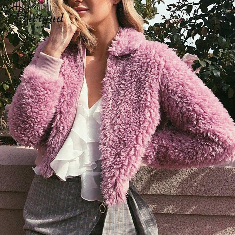 buy dicloud teddy bear fuzzy jacket women. Black Bedroom Furniture Sets. Home Design Ideas