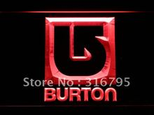 b543-r Burton Snowboarding LED Neon Sign with On/Off Switch 7 Colors to choose