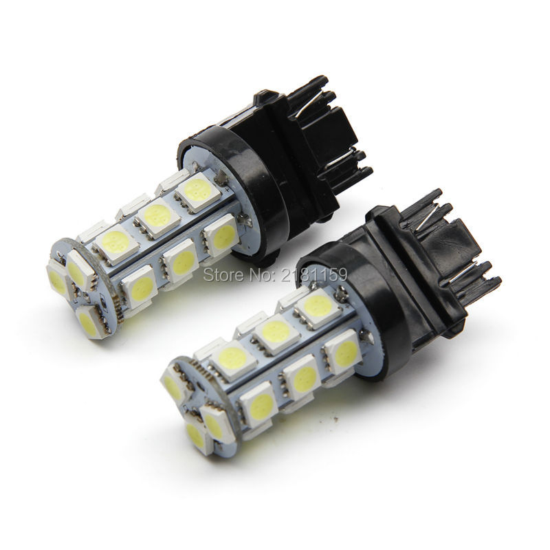 2X 3157 LED T25 P27/7W 18 SMD 5050 Reverse Lights Super White LED Car bulb Brake Stop Tail Light