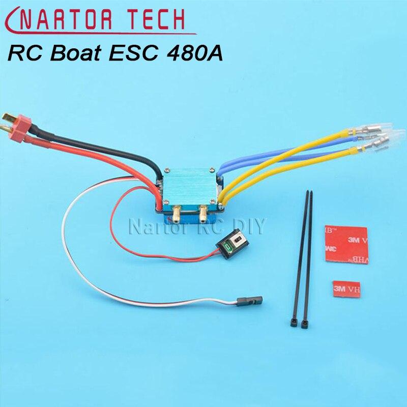 Жестокие ESC 480a 7.2-14.8 В 380/540/775 матовый Двигатель Скорость контроллер двойной режим регулятор ленточный тормоз для 1:10 автомобиля приманки лодк...
