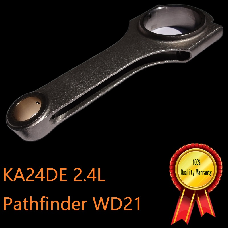 KA24DE high performance racing car engine Crank mechnisam forged piston rod connecting H section for sale nissan pathfinder wd21