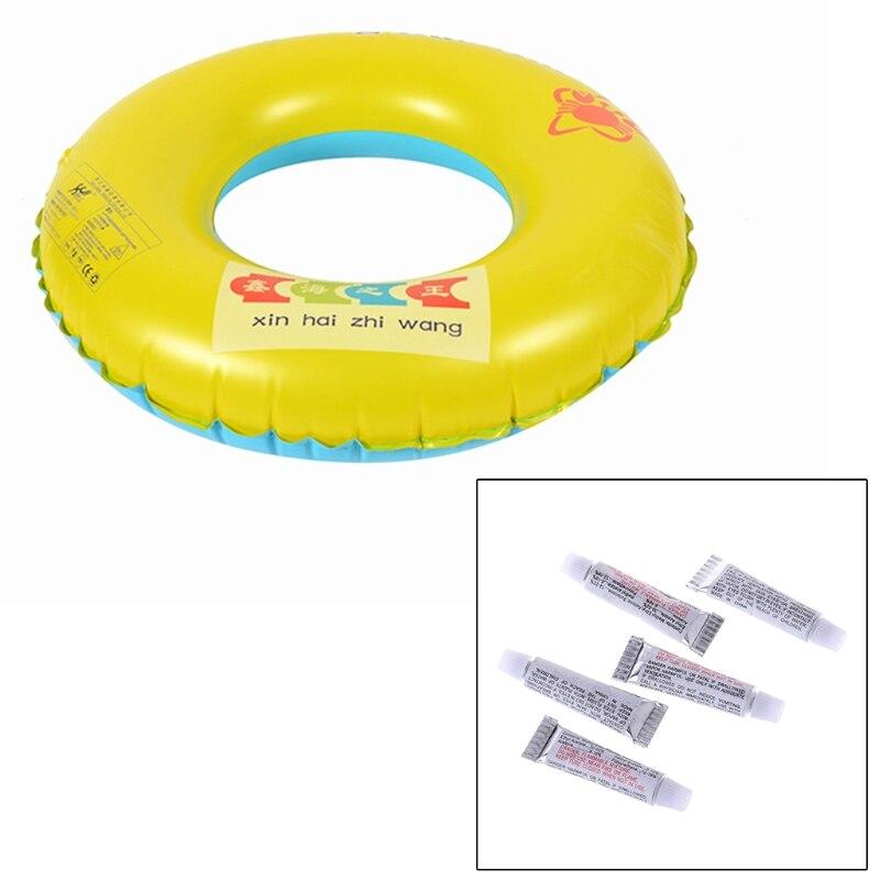 5 Pcs Swimming PVC Adhesive Inflatable Repair Glue Tube Patch Kit For Boat Pool Yoga Ball Swim Ring Toys