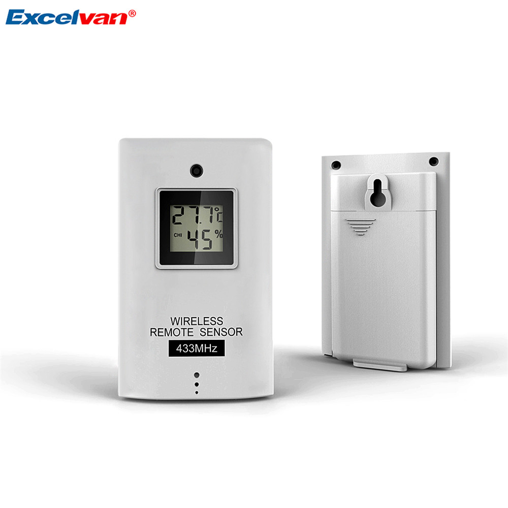 EXCELVAN Wireless Thermometer Hygrometer Weather Station Forecast ...