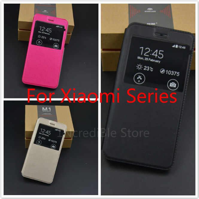 מגן כיסוי Case Flip עבור שיאו mi אדום mi הערה 6 7 4X 5A S2 ברור חלון נייד טלפון עור נדן עבור Xio mi mi 8SE A2 mi x 3