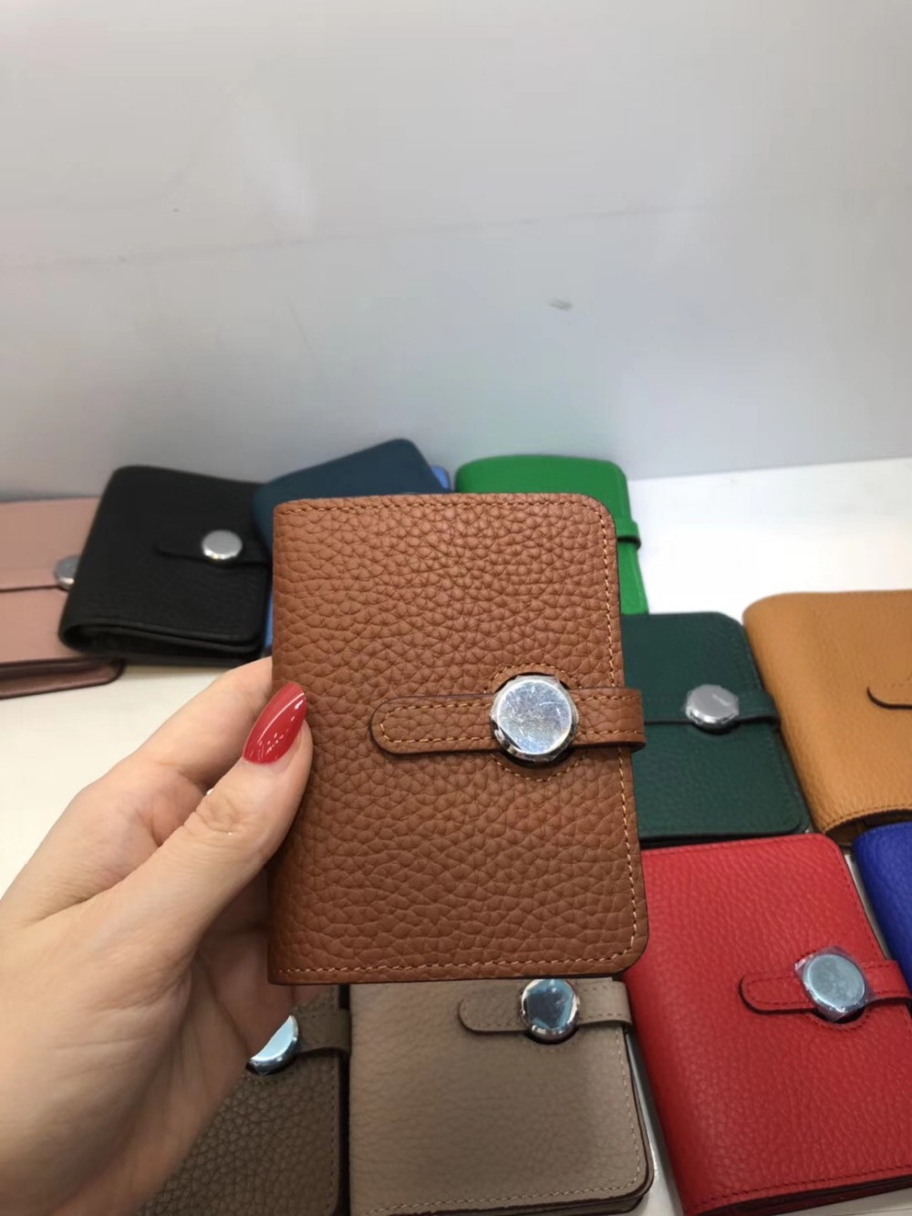Kafunila Women Genuine Leather Wallets 2018 High Quality Luxury Brand Designer Soft Real Leather Lady Credit Card Holder Purse