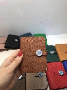 Kafunila women genuine leather wallets 2018 high quality luxury brand designer soft real lady credit card holder purse