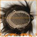 Хороший парик горячие продажи тупею швейцарской кружева Невидимые узлы естественный Индийские мужские парик хари система бесплатная доставка