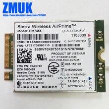 EM7455 RV2 4G WWAN Cartão Para Lenovo Thinkpad L470 L560 L570 P40 P50 P51 P51S P70 P71 T460 T460P T470 T570 X270 Series, P/N 01AX748