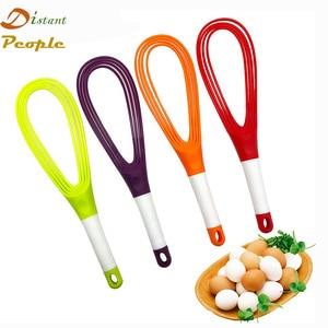 Food-Grade Plastic 2 in 1 Twist Whisk Egg Beaters Hand Egg Mixer Cooking Foamer Wisk Cook Folding Cream Blender Kitchen Gadgets