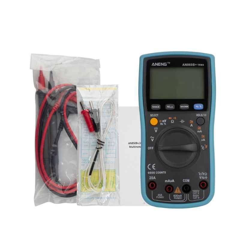 AN860B + LCD 6000 Conti Multimetro Digitale AC/DC Tensione Corrente Frequenza di Resistenza Resistenza di Temperatura Tester
